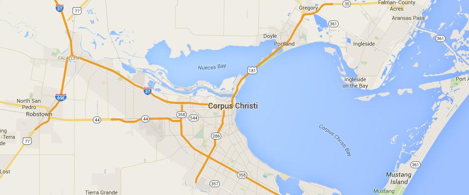 Corpus Christi Service Map